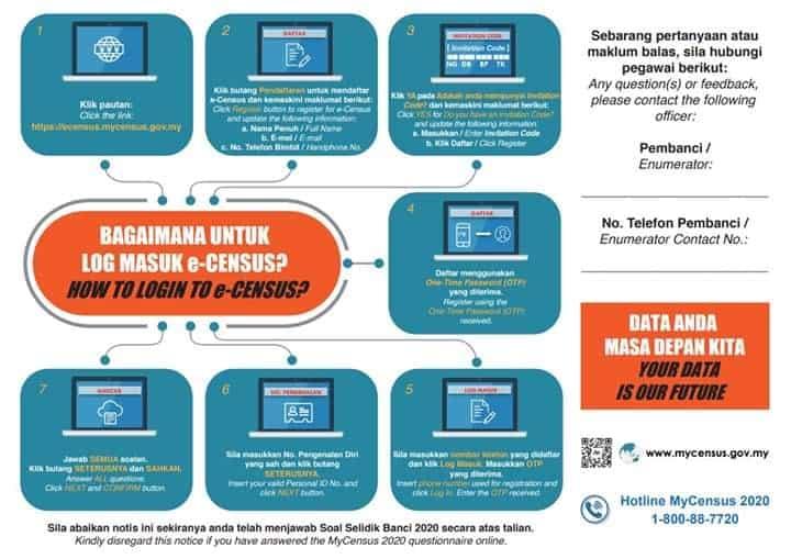 ecensus banci malaysia 2020
